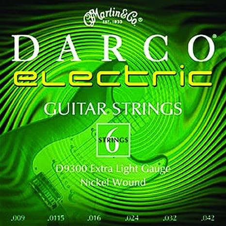 Martin D9300 - Juego de cuerdas para guitarra eléctrica de níquel.009 - .042: Amazon.es: Instrumentos musicales