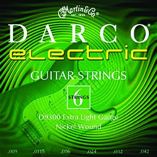 Juego de cuerdas para guitarra el/éctrica de n/íquel.009 .042 Martin D9300