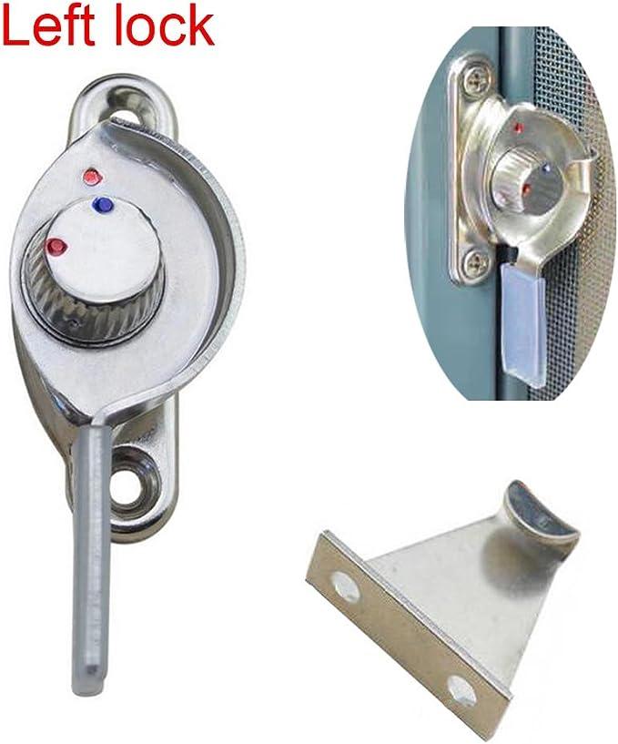 AUFODARA Metal Bloqueo de Media Luna para Corredera Cerradura Antirrobo para Puerta Ventana de Aleación de Aluminio y PVC (izquierda): Amazon.es: Bricolaje y herramientas