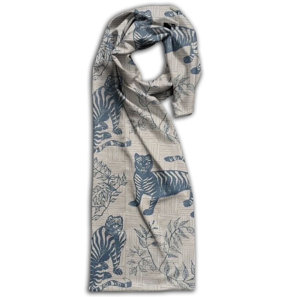 Tiger Animal 100% Polyester Soft Scarves Shawl Warm Print For Men Gift For Travel