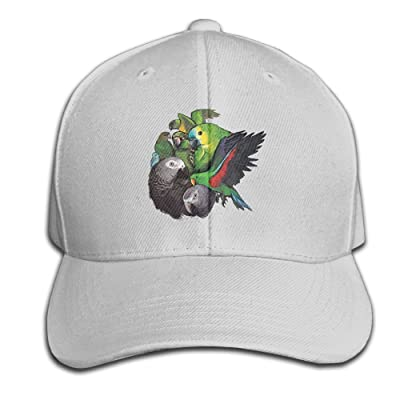 Unisex Parrot Birds Logo Baseball Hip-hop Cap Vintage Adjustable Hats Cotton Trucker Caps for Women and Men Navy,One Size