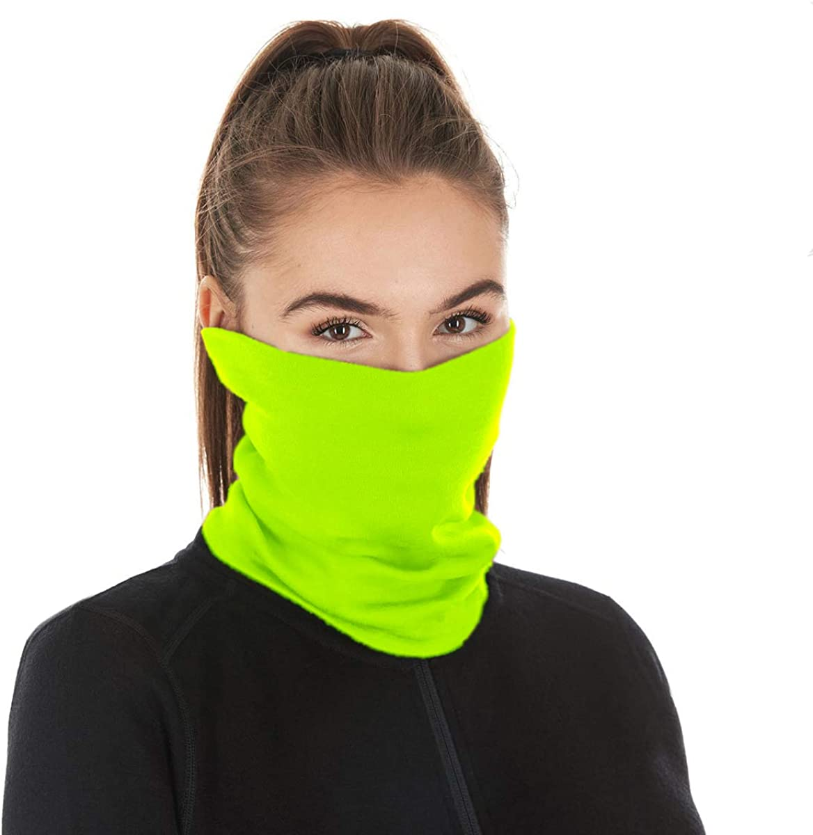 Scarf Bandanas Neck Gaiter with Safety Carbon Filters,Multi-purpose Neck Warmers For Men women Sports//Outdoors 17pcs