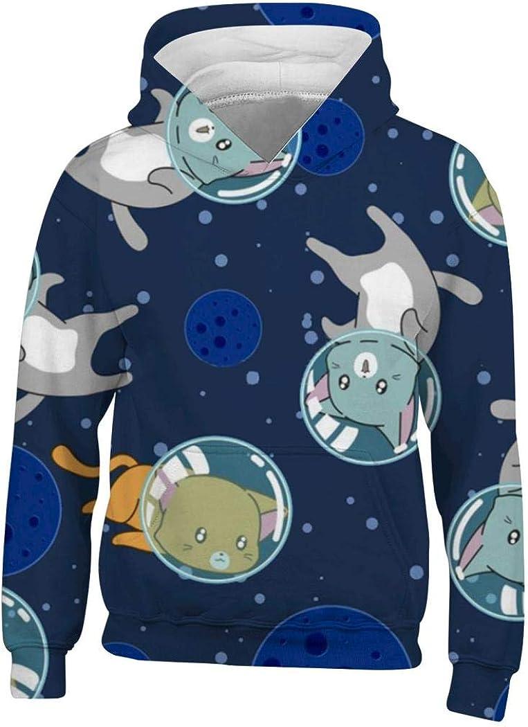 LinsSone Hoodie Boys Kids Girls Childrens 3D Printed Hooded Hoodie Sweatshirts for Teens Youth Pullover.