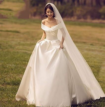 Amazon.com ELEGENCE,Z Wedding Dress, Europe and America