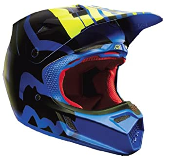 Fox Flux casco, color Bleu - Savant Blau, tamaño S/M