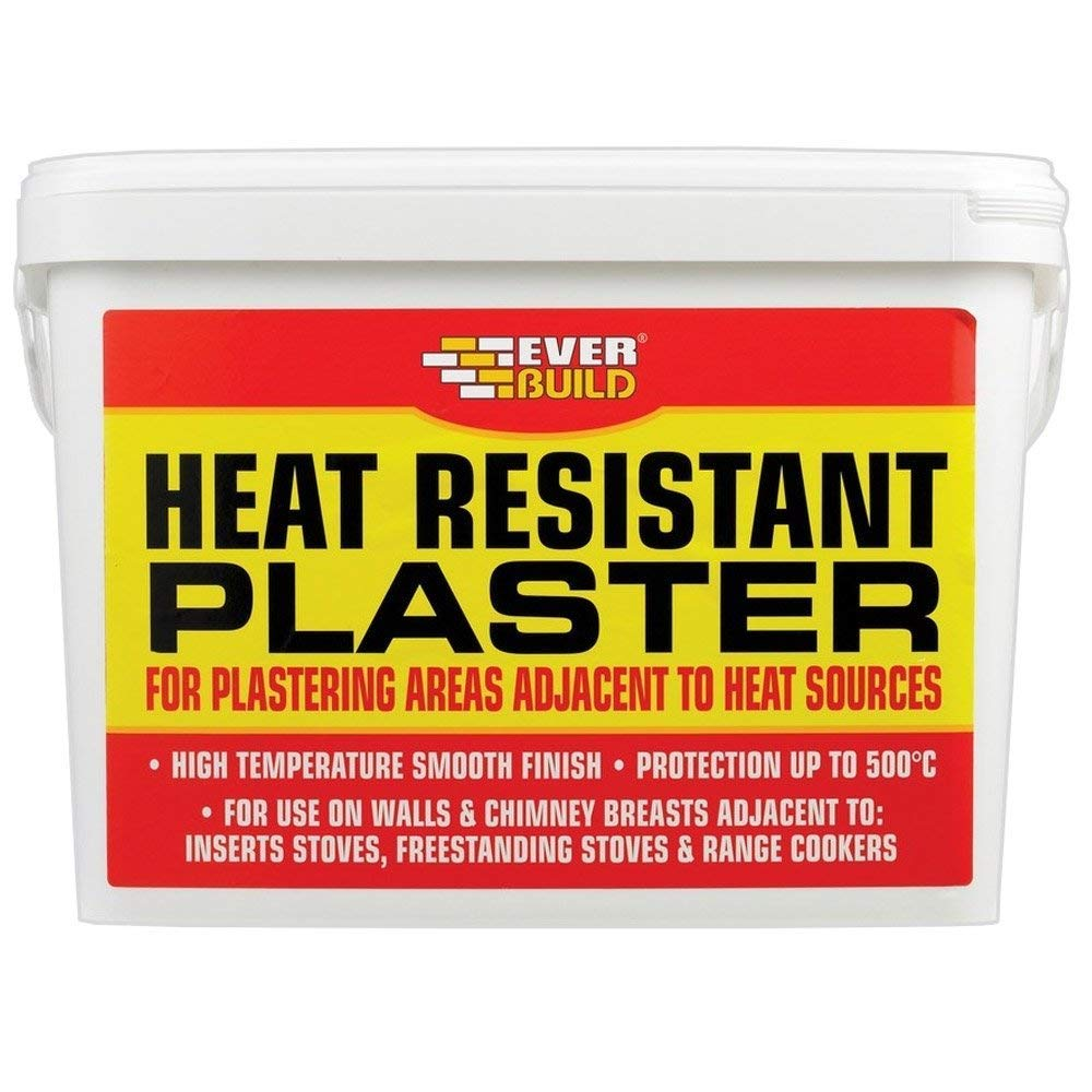 Everbuild 12.5KG Heatproof Plaster Mix Heat Resistant High Temperature PCPLAST12-EBD