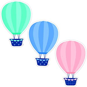 Creative Teaching Press Calm & Cool Hot Air Balloons Cut Outs, 6 in, CTP 8666
