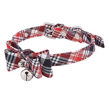 lilingfine Collar para Mascotas, Ajustable, Hecho a Mano, Diagonal ...