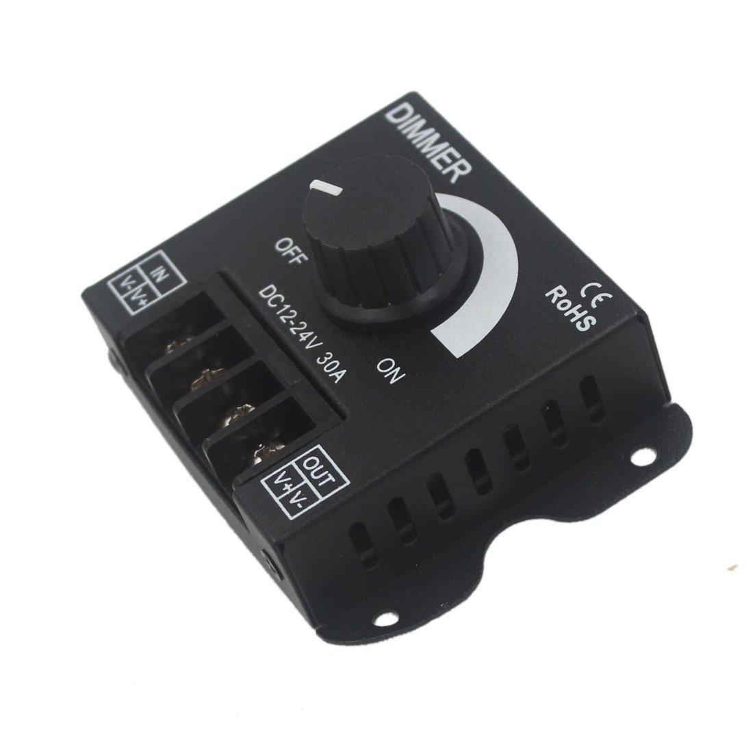 JOYLIT LED Variateur contr/ôleur 12V 24V 30A PWM Gradateur 360W pour bandes LED Ou lumi/ère LED