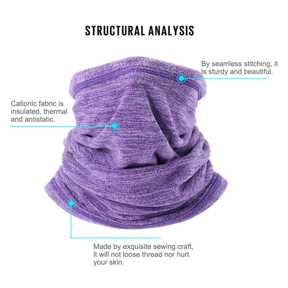 Oshide Warmer Face Mask Winter Warm Collar Neck Gaiter Soft Fleece Scarf Windproof Winter Outdoor Sports Coldproof