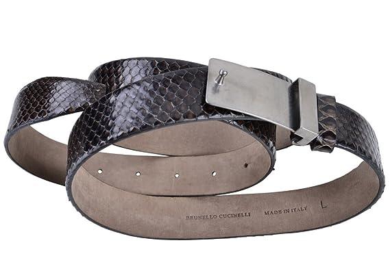 Brunello Cucinelli Gürtel Damen Schwarz Schlangenleder L  Amazon.de ... 75e229846a