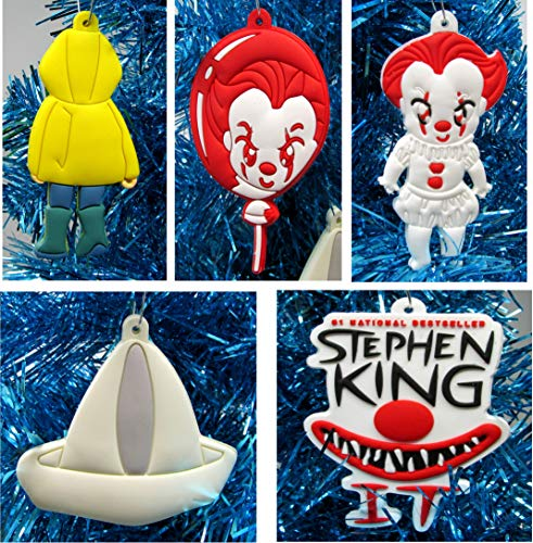 Ornament IT Pennywise Holiday Christmas Set - Unique Shatterproof Plastic Design