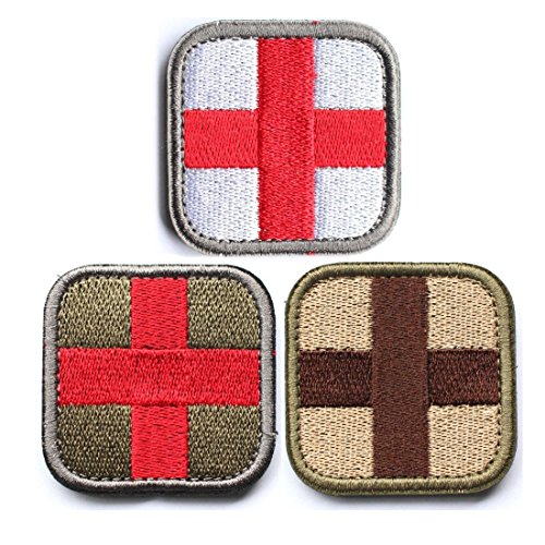 Horizon Medic Cross Tactical Patch – Olive Red White Green Olive Streamer