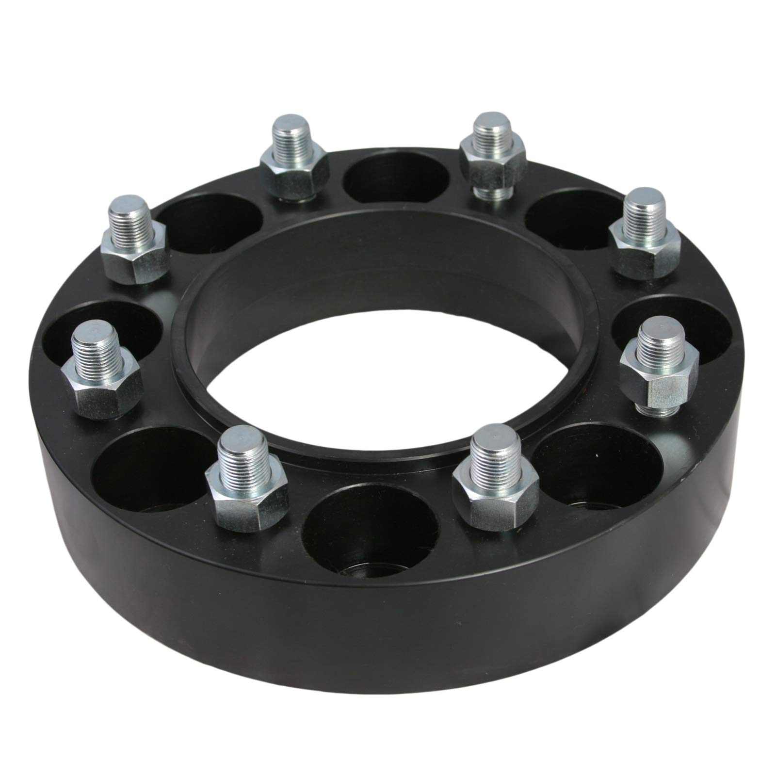 for Gehl Mustang New Holland Bobcat Case John Deere Cat Terex RockTrix 4pcs 2 inch Skid Steer 6Lug Wheel Spacers Adapters 6x6 Bolt Pattern 9//16x18 Studs Nuts