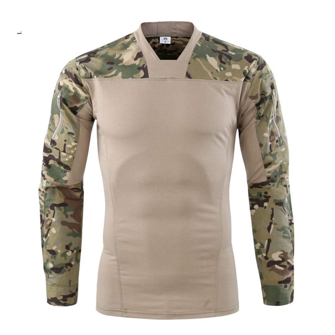 Men Tactical T-Shirt Paintball Army Combat T Shirt Men Long Sleeve Camouflage Performance Tshirt