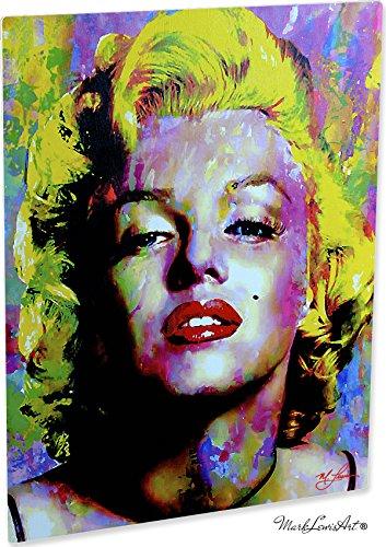 Marilyn Monroe Artwork Abstract Modern Paintings Signed Print   Wall Art Rb