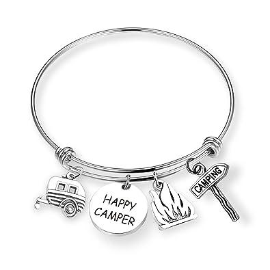 Amazon.com: EIGSO Shitter llavero completo Happy Camper ...