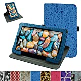 """RCA 10 Viking Pro 10.1 Rotating Case,Mama Mouth 360 Degree Rotary Stand With Cute Lovely Pattern Cover For 10.1"""" RCA 10 Viking Pro Tablet,Blue"""