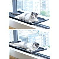 Cat Perch Cat Window Perch Cat Window Hammock Bed Cat Window Seat Kitty Window Sunny Seat Durable Big Pet Perch with Upgraded 4 Big Suction Cups Cat Bed Holds Up to 60lbs