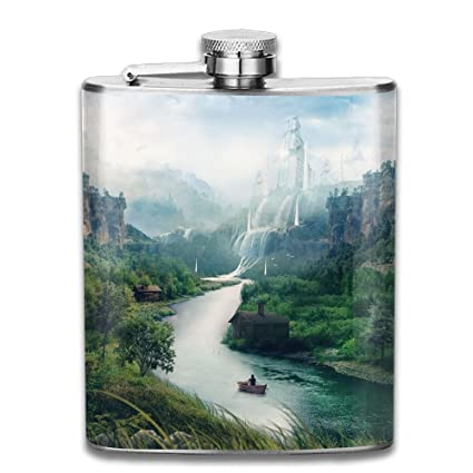 Amazon com: Landscape River Mountains Stream Waterfall Boat