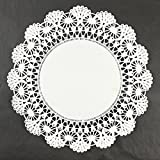 Black Cat Avenue White Lace Paper Doilies, 12 Inches, 50 Count