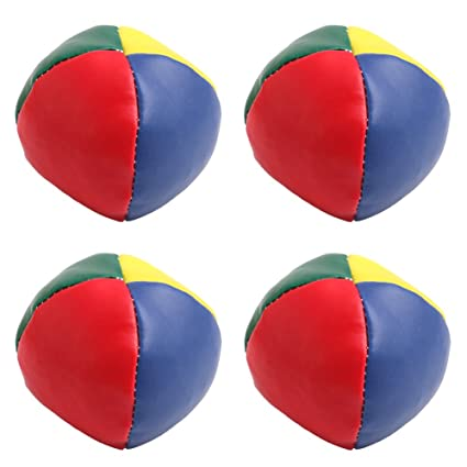 4pcs Juggling Balls Set Fun Soft Classic Leather Juggle Beanbags Party Toys For Kids Children 2019 New Arrival Online Discount Toys & Hobbies Party Games