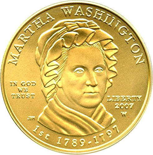 2007 W $10 First Spouse Martha Washington Ten Dollar MS69 PCGS