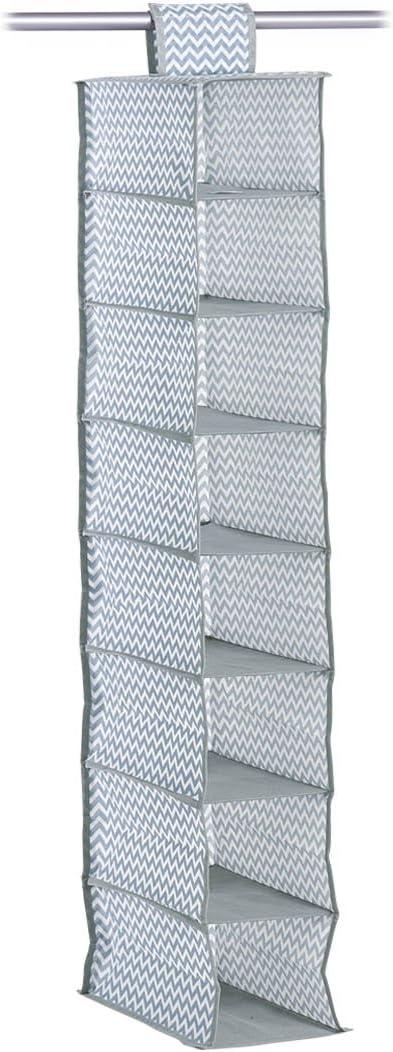 Zeller 14613 Almacenamiento de Ropa Colgada 28x28x95 cm Non-Woven Gris
