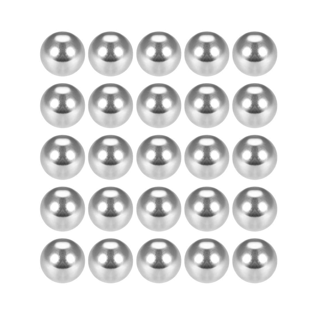 Sourcing Map Diff/érents roulements /à billes de pr/écision en acier chrom/é G25 1mm 100pcs