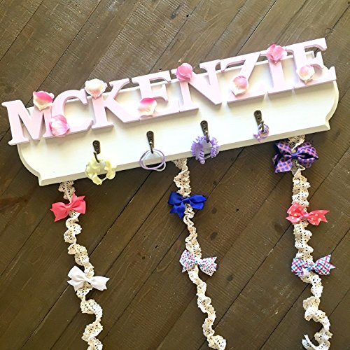 Bow Holder for Girls, Personalized Headband Holder, Customize With Any Name, 18