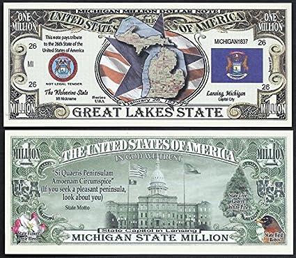Amazon.com: Michigan State Educational Million Dollar Bill W ...