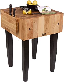"product image for Pro Chef Prep Table with Butcher Block Top Casters: Not Included, Size: 30"" W x 24"" D"