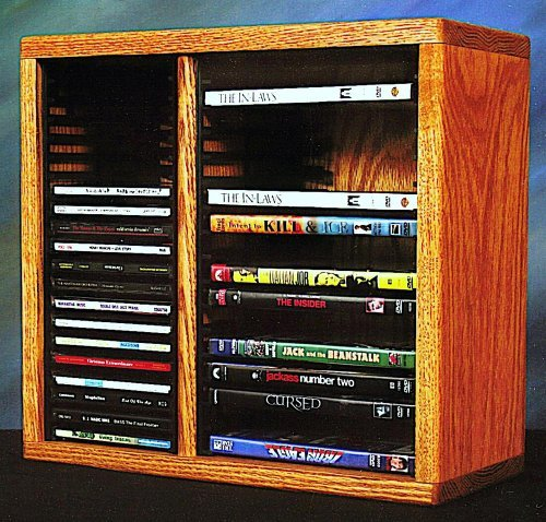 15.25 in. Desktop Media Storage w Individual Locking Slots (Honey ()