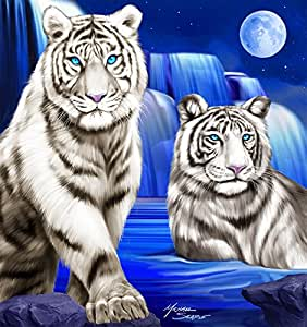 Amazon.com: White Tiger Waterfall Luxurious Plush Heavy
