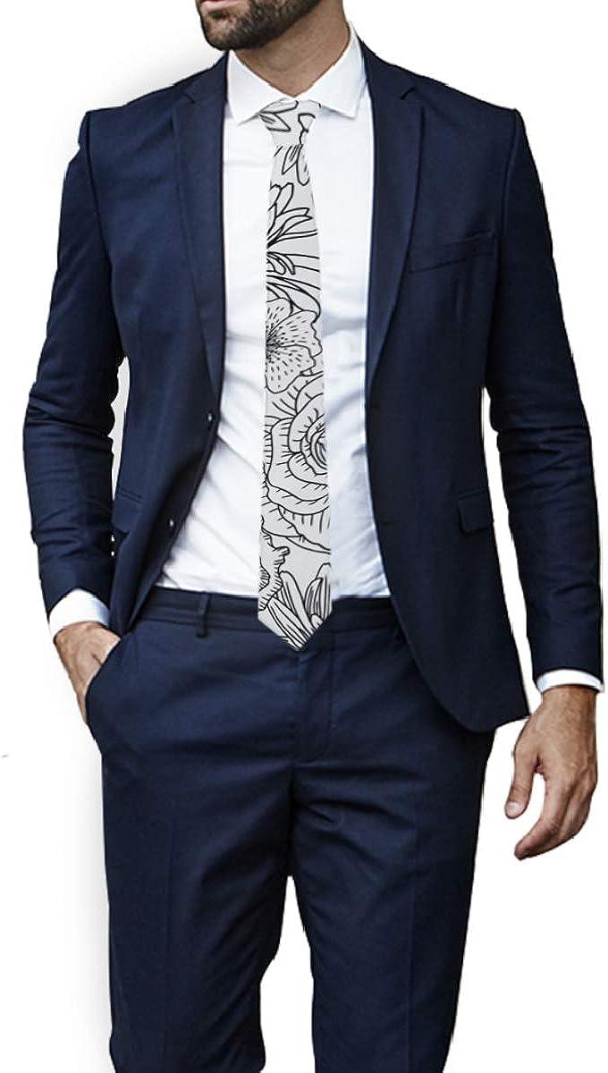 MONTOJ - Corbata de cuello para hombre, diseño de flores de esquí ...