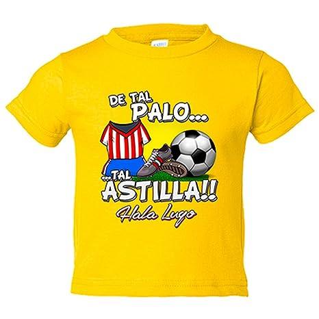 Camiseta niño de tal palo tal astilla Lugo fútbol - Amarillo ...