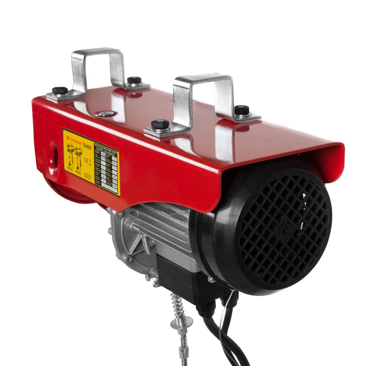 Ausleger Komplettset Elektrischer Seilzug Flaschenzug Motorwinde Tragf/ähigkeit 200 bis 400 kg Rotfuchs Elektrische Seilwinde inkl