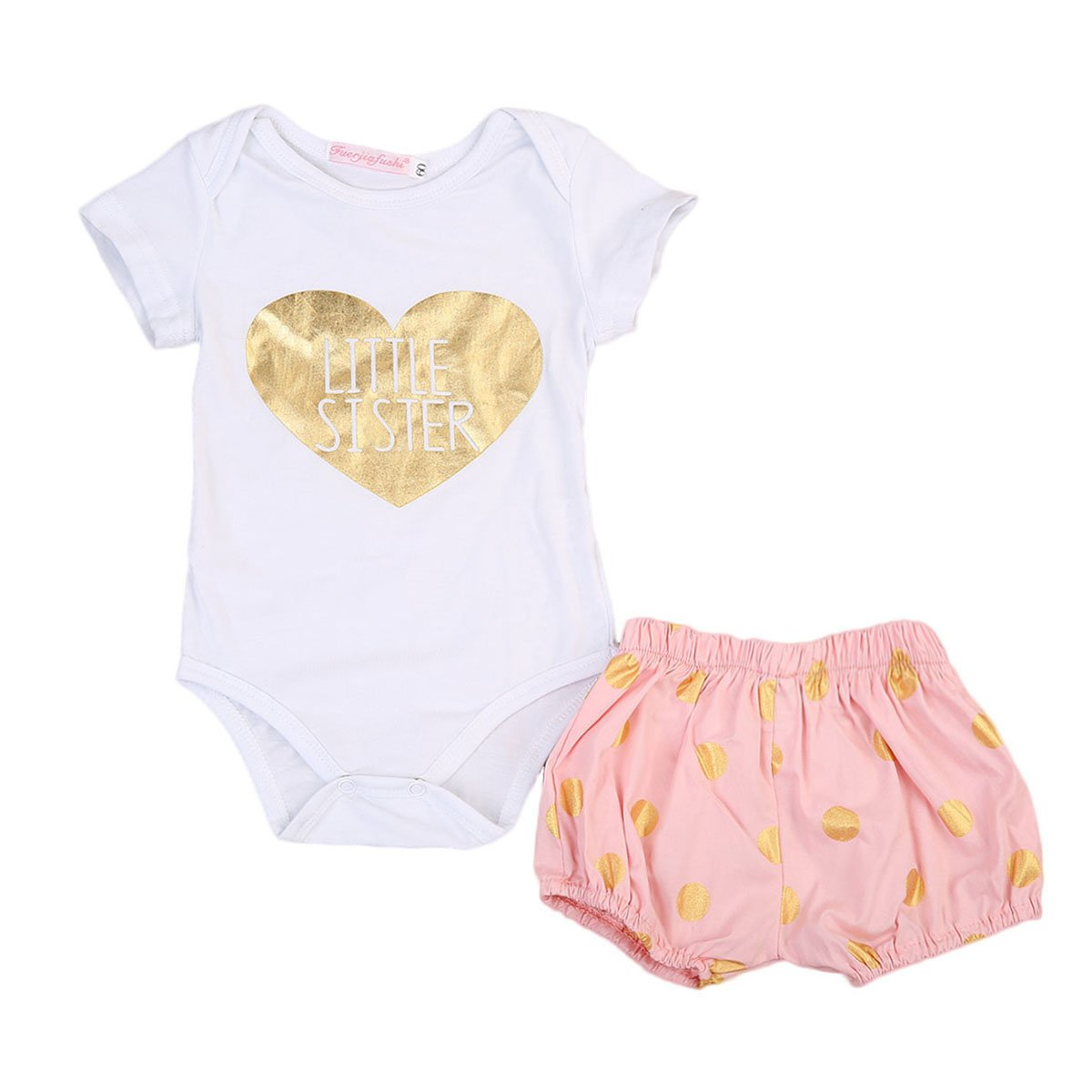 9df31faf5e31 Amazon.com  MaBaby Newborn Baby Girl Outfits Big Sister Dress+T ...