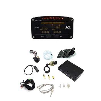 Funnyrunstore Multifunción Car Dash Pantalla LCD Turbo Boost Escape EGT Temp Tacho RPM Medidor Medidor 0-100km / h Pruebas para carreras de autos (negro): ...