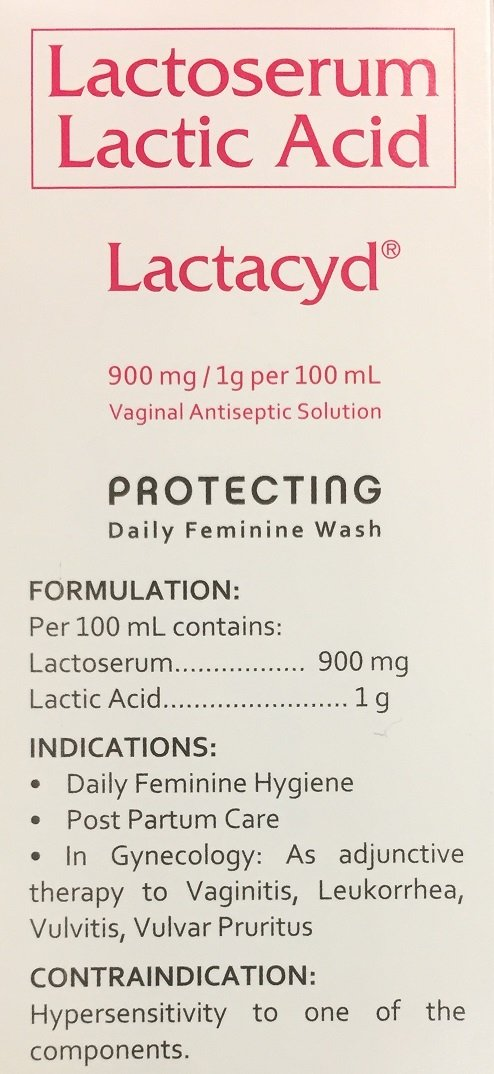 LACTACYD Daily Feminine Hygiene Wash by Sanofi Aventis 250mL