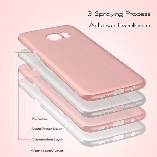 anccer Funda para Samsung Galaxy S7 Edge [Serie Colorida] [Ultra-Delgado] [Ligera] Anti-rasguños Estuche para Carcasa Samsung Galaxy S7 Edge (Plata ...