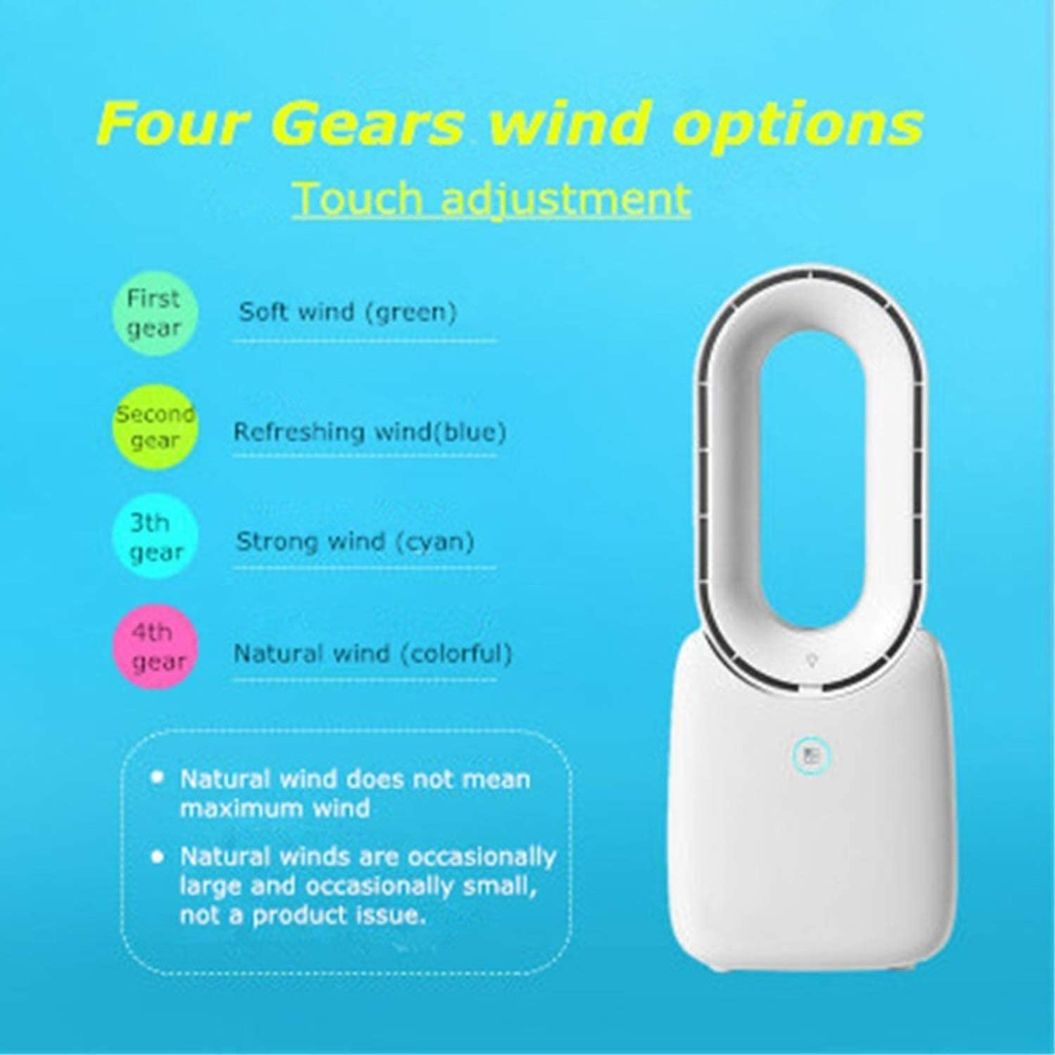 Color : Pink with no Light Office Shengjuanfeng USB Fans Mini USB Portable Fan Rechargeable Bladeless Fan with Night Light Desk Fan Air Cooler for Home Outdoor Travel