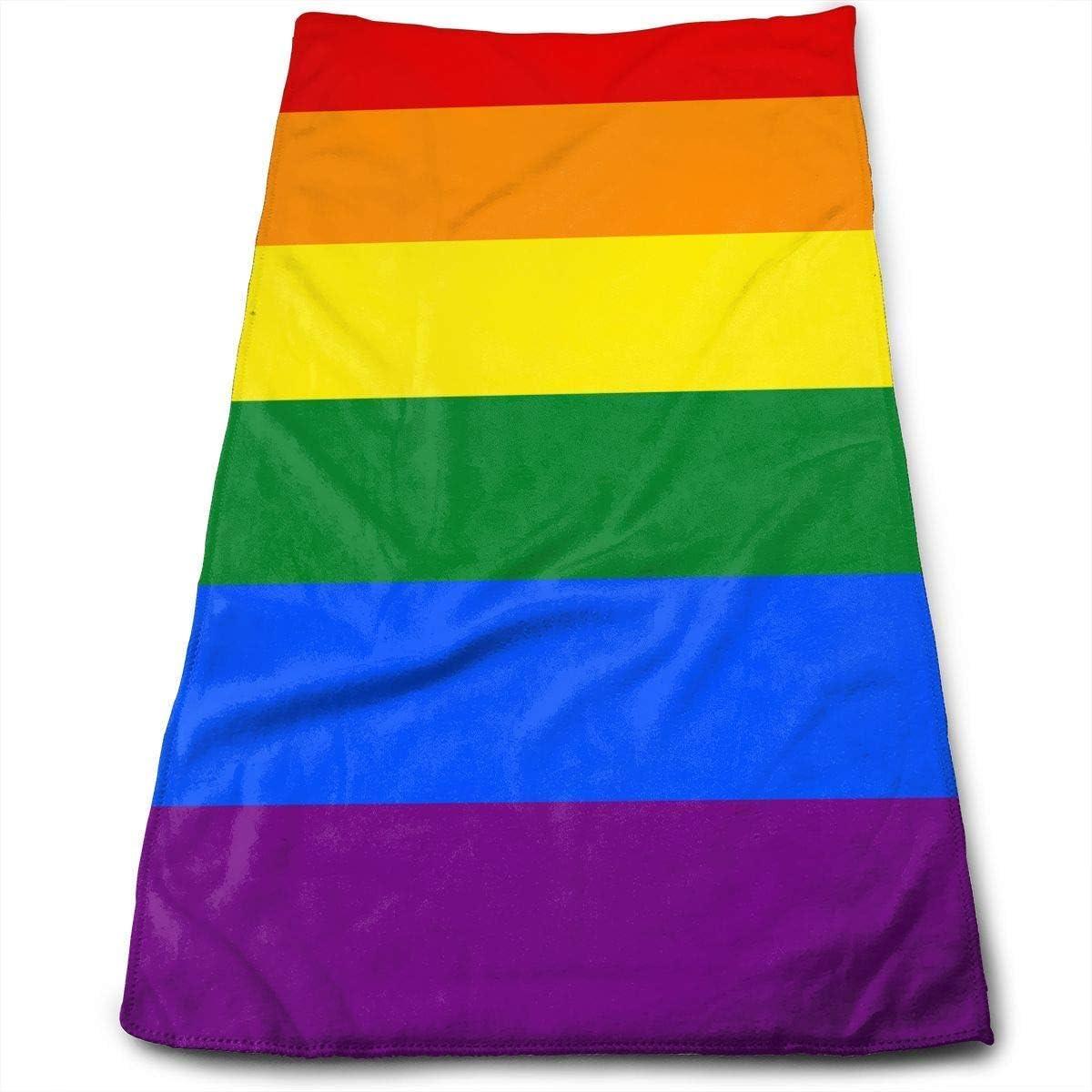 huibe Toallas de Mano Bandera del Orgullo Gay Toallas para la Cara del Arco Iris Toallas Altamente absorbentes para el Rostro Gimnasio y SPA 30 x 70 cm: Amazon.es: Hogar