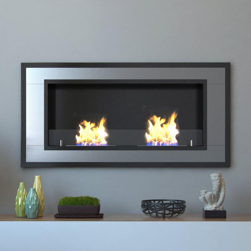 Amazon.com: Moda Flame Lugo – Soporte de pared para chimenea ...