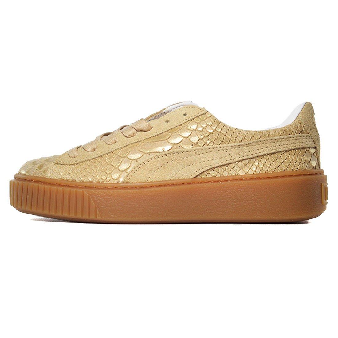 PUMA Women's Platform Sneakers B06XB4KC7T 7 M US Natural Vachetta / Gold