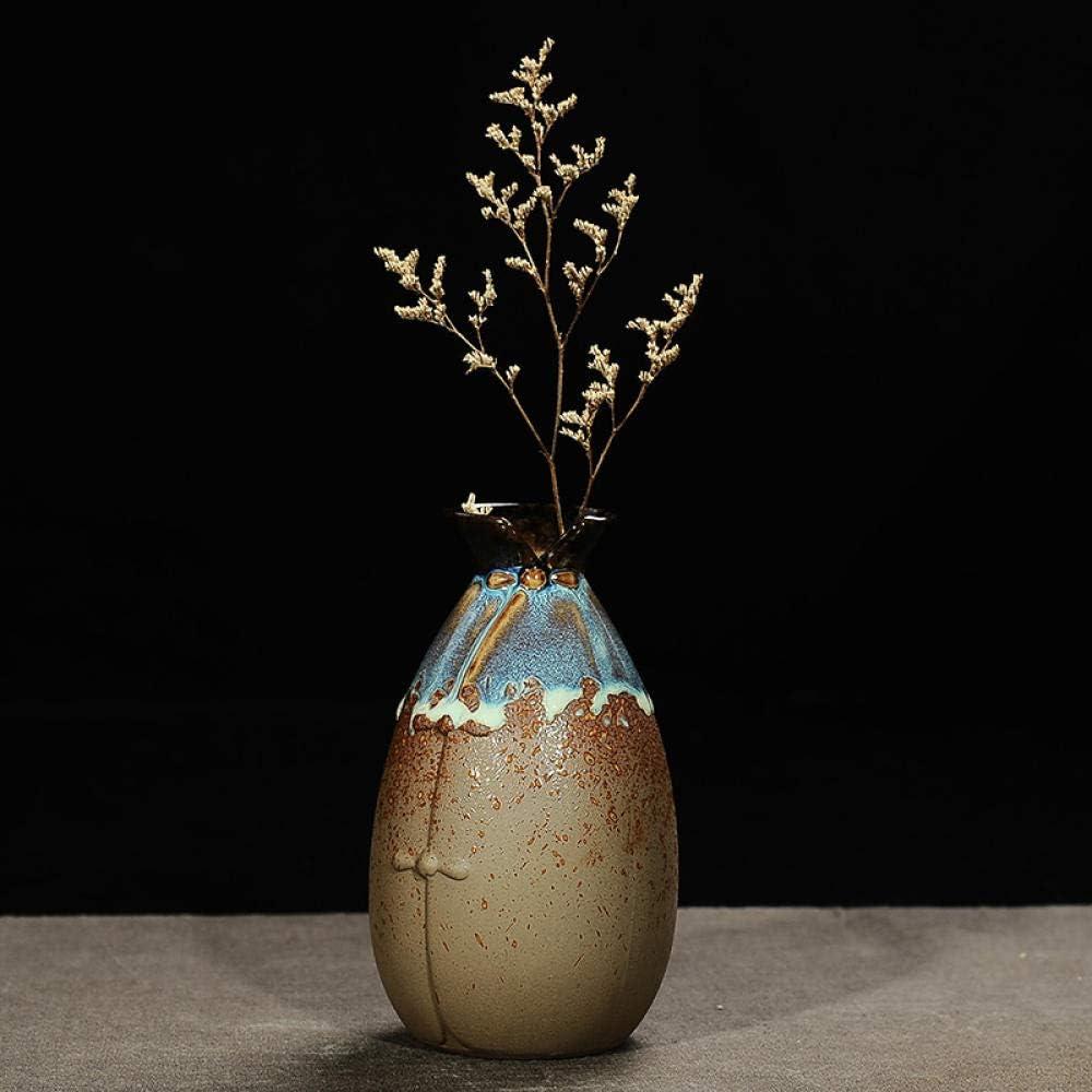 FaucetKAI decoración de Resina decoración hogareña Horno de cerámica jarrón de Cambio leña pequeña Flor Inserto decoración jarrón pequeño eneldo Verde hidropónico pequeña decoración B