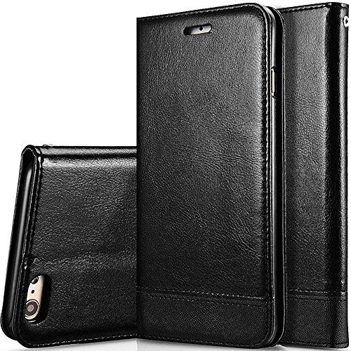 iPhone 6S Case,iPhone 6 Case,CASELAND Wallet Flip PU Leather Cover Magnetic Clasp Case for iPhone 6S,Case for iPhone 6-4.7,Black