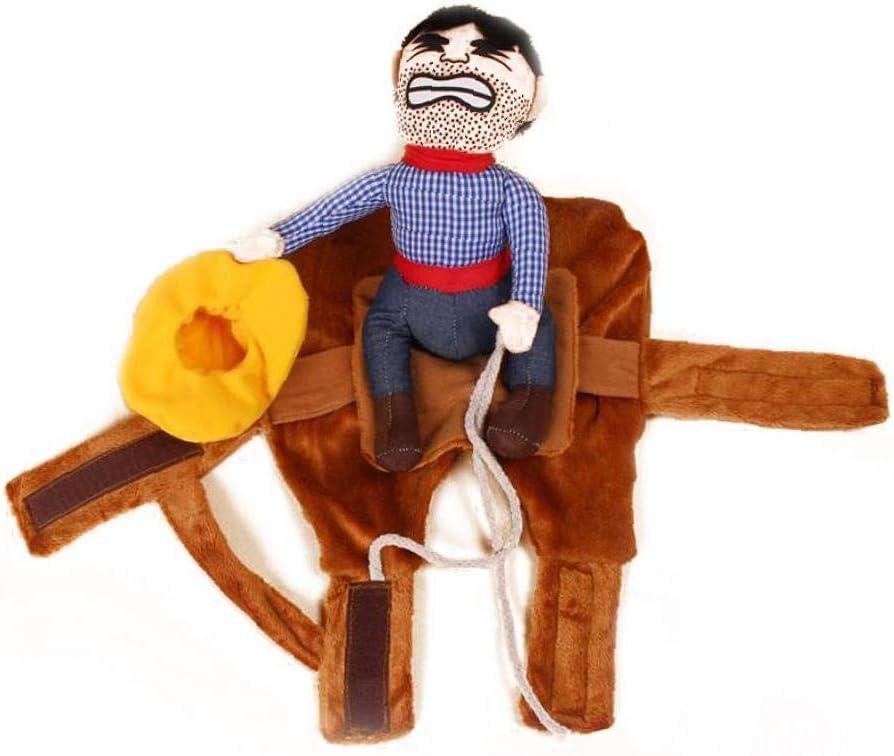 1 Juego De Vaquero Para Mascotas Ropa Rider S Gato Del Perro De La Chaqueta De Vestir Sudaderas Con Capucha Divertida De Cosplay Animal Doméstico Divertido Traje De Montar a Caballo Del Vaquero