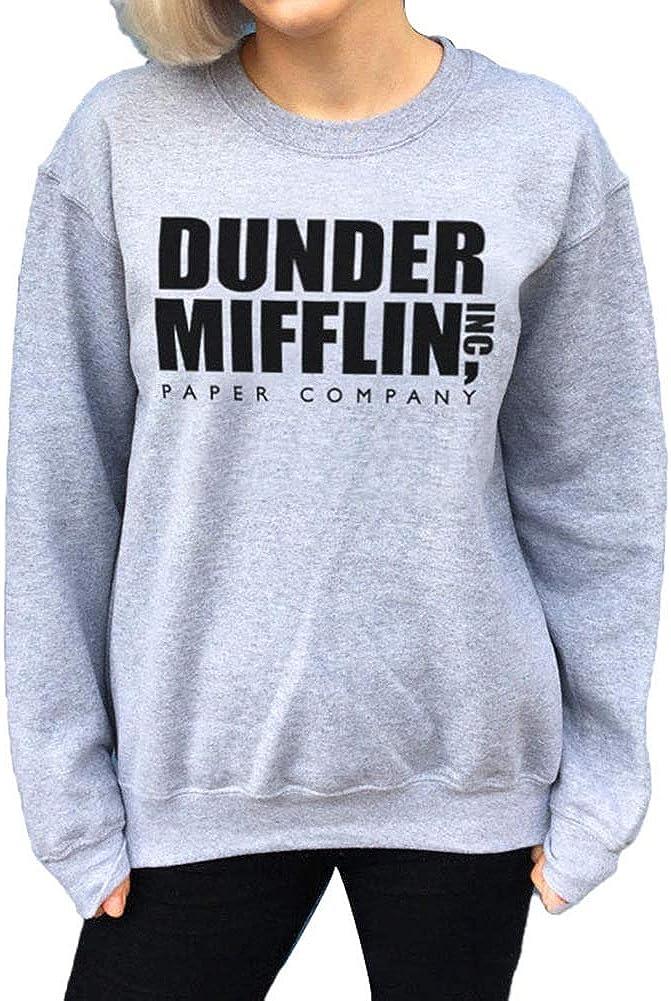 FANCYLEO Dunder Mifflin Hoodie Womens Dunder Paper Company Mifflin Office TV Show Crewneck Sweatshirt
