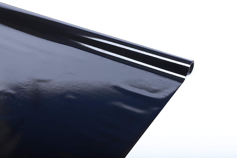 RABBITGOO Blackout Window Film Privacy Window Cling Dark Window Tinting Film Non-Adhesive Window Sticker Light Blocking 17.5'' x 78.7'' (Matte Black)